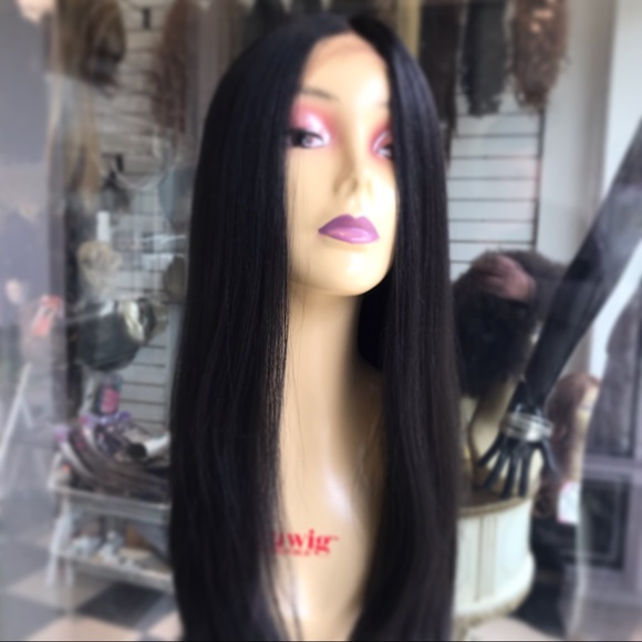 Accessories - Wig Long Black Lacefront Swisslace New 2019